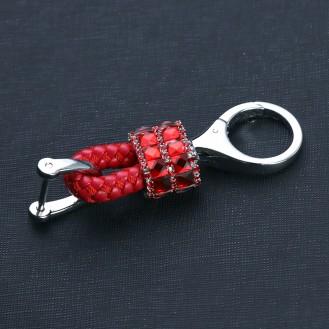 Bling Mini Lederband - Schlüsselanhänger mit speziellem Design Rot