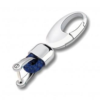 Eleganz Schlüsselanhänger Leder Blau (Auf Wunsch mit Gravur)