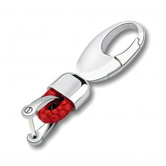 Eleganz Schlüsselanhänger Leder Rot (Auf Wunsch mit Gravur)