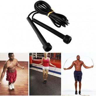 Speed Rope Springseil Fitness  Training Seil Hüpfseil  275cm   Schwarz