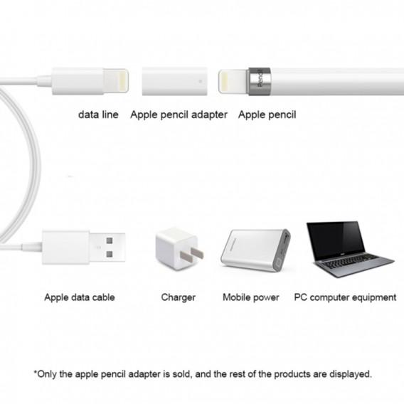 Lightning Lade Adapter für Apple iPad Pro Pencil - Weiss