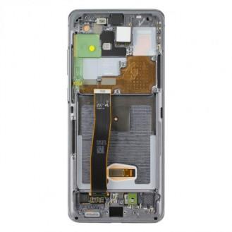 Original Samsung Galaxy S20 Ultra G988F / S20 Ultra 5G G988B LCD Display mit Rahmen Cosmic Grey (Grau)