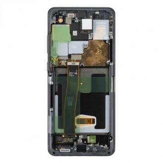 Samsung Galaxy S20 Ultra G988F / S20 Ultra 5G G988B LCD Display mit Rahmen Cosmic Black (Schwarz)