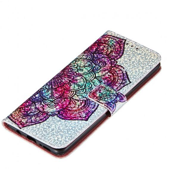 Bling Handy Hülle Samsung Galaxy A51 Book Case Wallet Schutzhülle Tasche Slim Flip Cover Etui Schwarz