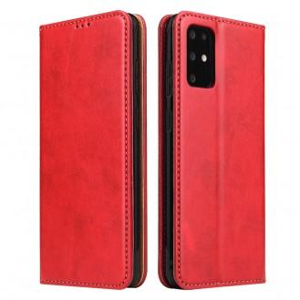 Handy Hülle Samsung Galaxy S20+ Book Case Wallet Schutzhülle Tasche Slim Flip Cover Etui Rot