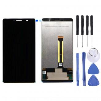 Nokia 7 Plus Ersatzdisplay LCD + Digitizer Front (OEM) - Schwarz