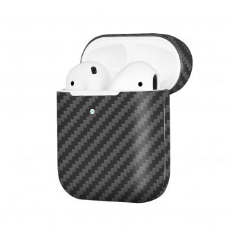 Echt Carbon Faser Volle Schutz Hülle Slim Case Für Airpods 1 / 2