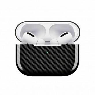 Echt Carbon Faser Volle Schutz Hülle Slim Case Für Airpods Pro Matt Schwarz