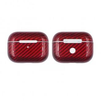 Echt Carbon Faser Volle Schutz Hülle Slim Case Für Airpods Pro Rot