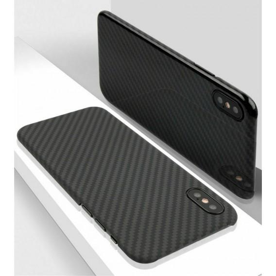 Echt Carbon Faser Volle Schutz Hülle Slim Case Für iPhone XS Max