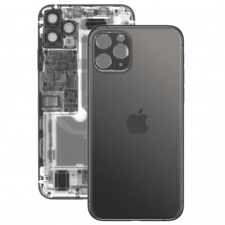 iPhone 11 Pro Max Rückseite Backglas Akkudeckel Schwarz mit grosses Loch