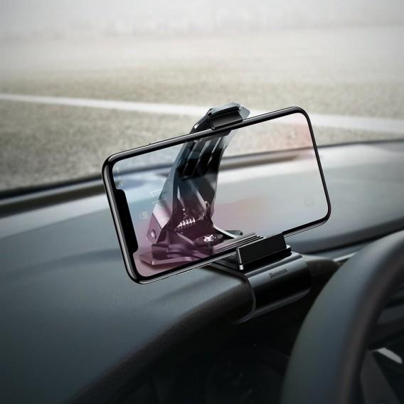 Autohalterung auf dem Armaturenbrett Schnalle Clip Baseus Mouth schwarz