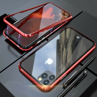 360°  Magnet Cover Hülle iPhone 11 Pro Max Rot