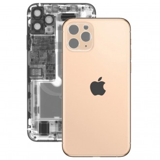 iPhone 11 Pro Max Rückseite Backglas Akkudeckel Gold mit grosses Loch