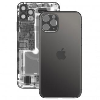 iPhone 11 Pro Rückseite Backglas Akkudeckel Schwarz mit grosses Loch