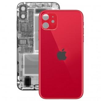 iPhone 11 Rückseite Backglas Akkudeckel Rot mit grosses Loch A2221, A2223, A2111