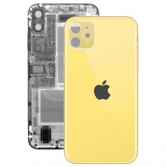 iPhone 11 Rückseite Backglas Akkudeckel Gelb mit grosses Loch A2221, A2223, A2111