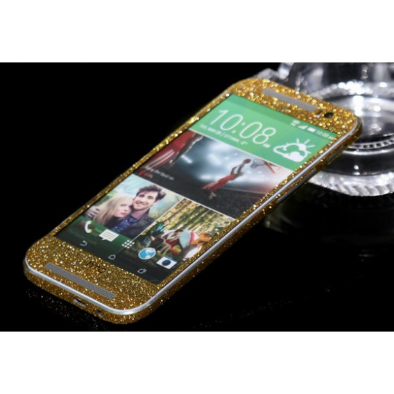 HTC One M8 Gold Bling Aufkleber Folie Sticker Skin