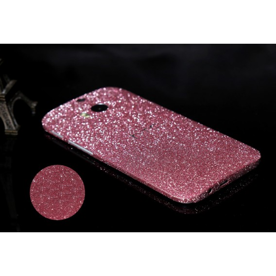 HTC One M8 Pink Bling Aufkleber Folie Sticker Skin