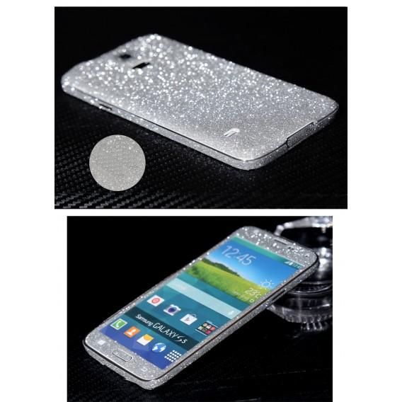 Galaxy s5 Silber Bling Aufkleber Folie Sticker Skin