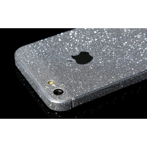 iPhone 5 5S SE Silber Bling Aufkleber Folie Sticker Skin