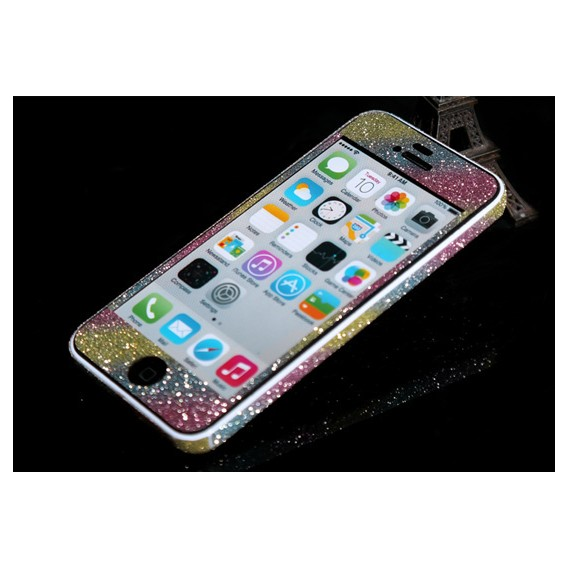 iPhone 5C Rainbow Bling Aufkleber Folie Sticker Skin