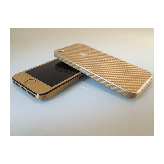 Gold Carbonfolie Sticker Skin für iPhone 5 5S SE