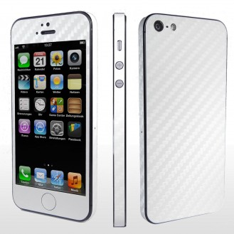 weiss Carbon Folie Sticker Skin für iPhone 5 5S SE