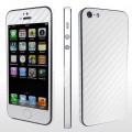 weiss Carbon Folie Sticker Skin für iPhone 5 5S SE