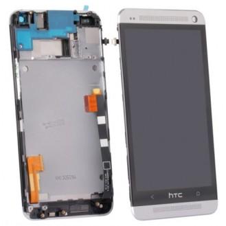Original HTC One M7 LCD Display grau