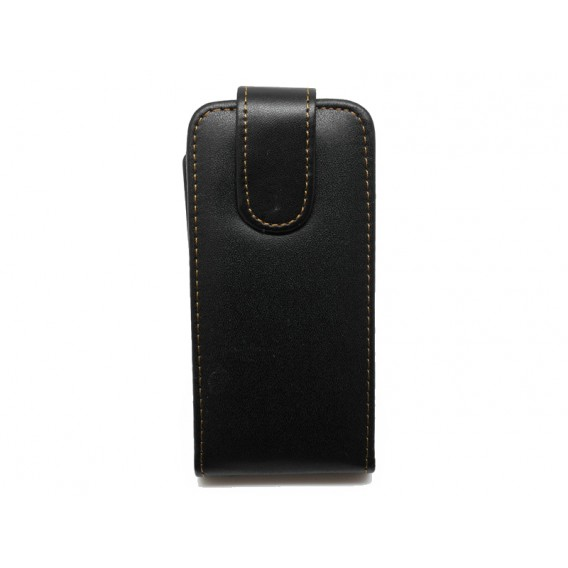 Schwarz Flip Leder Etui iPod Touch 5