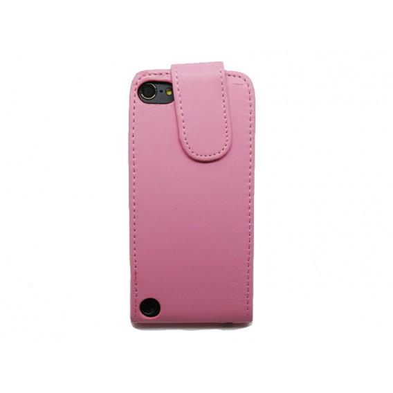 Rosa Flip Leder Etui iPod Touch 5