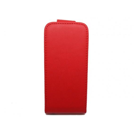 Rot Flip Leder Etui iPod Touch 5
