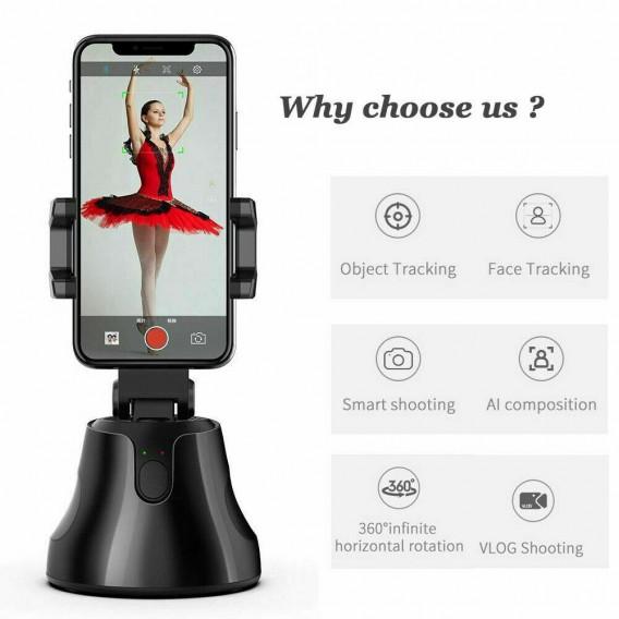 Smartphone Halterung Halter, Beweglicher Smartphone Selfie Schießen 360 ° Face