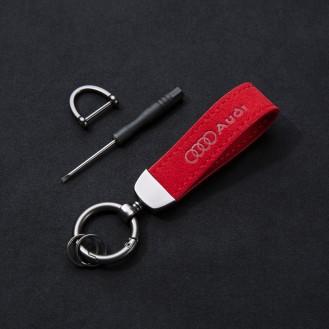 Audi Rot Schlüsselanhänger (Auf Wunsch mit Gravur)