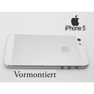 iPhone 5 Alu Backcover Rückseite Weiss A1428, A1429, A1442