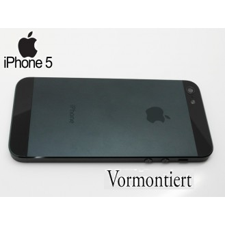 iPhone 5 Alu Backcover Rückseite Schwarz A1428, A1429, A1442