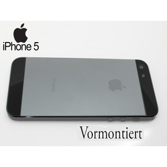 iPhone 5 Alu Backcover Rückseite Grau
