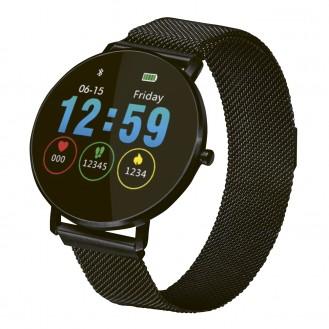 Fitness-/Aktivitätstracker/Smartwatch schwarz