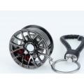 Schlüsselanhänger Auto Geschenk Felge Autofelge Tuning Metall Schwarz