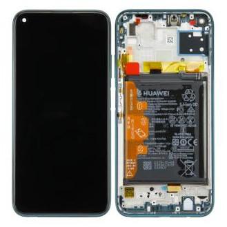 Huawei P40 lite (JNY-L21A) LCD Display Crush Grün