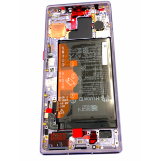LCD + Touch + Frame + Battery für Huawei Mate 30 Pro Space Silver