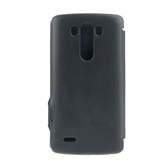 Horizontal Flip Ledertasche für LG G3 dunkeblau