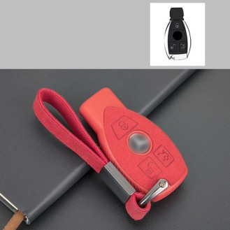 Silikon-Texstil Schlüsseletui Hülle Mercedes-Benz Rot