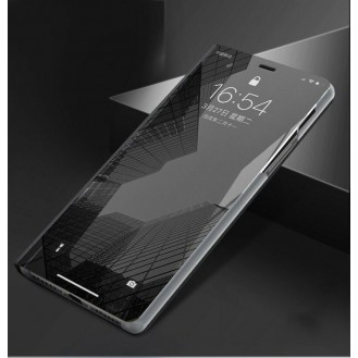 Samsung Galaxy  S20 Ultra Spiegel Flip Mirror Clear View Case Schwarz