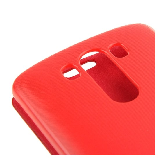 Horizontal Flip Ledertasche für LG G3 rot