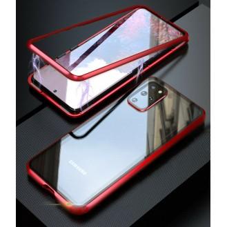 360 Grad Magnet Case Für Samsung Galaxy S20 Ultra Hülle Metall Tasche Rot