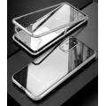 360 Grad Magnet Case Für Samsung Galaxy S20 Hülle Metall Tasche Silber