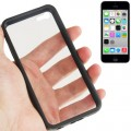 Transparent Plastik + TPU Rahmen Hülle iPhone 5C (Black)