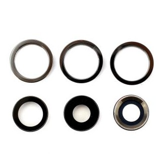 Kamera Linse mit Rahmen Kompatibel mit iPhone 11 Pro Max , Silber
